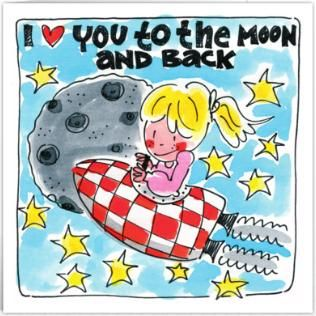 I love you to the moon and back - Blond Amsterdam