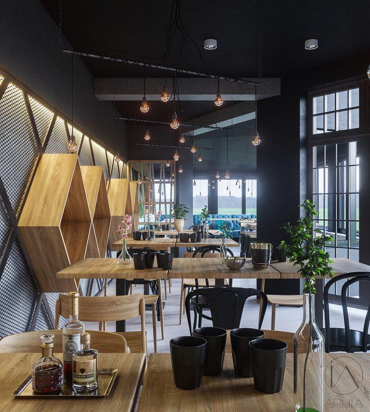 Restaurant design @arhia_architecture design lovers pub design industrial design arhia design