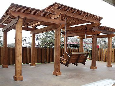 12'x24' Tiered Cedar Pergola built and installed by The Gazebo Factory of TEXAS