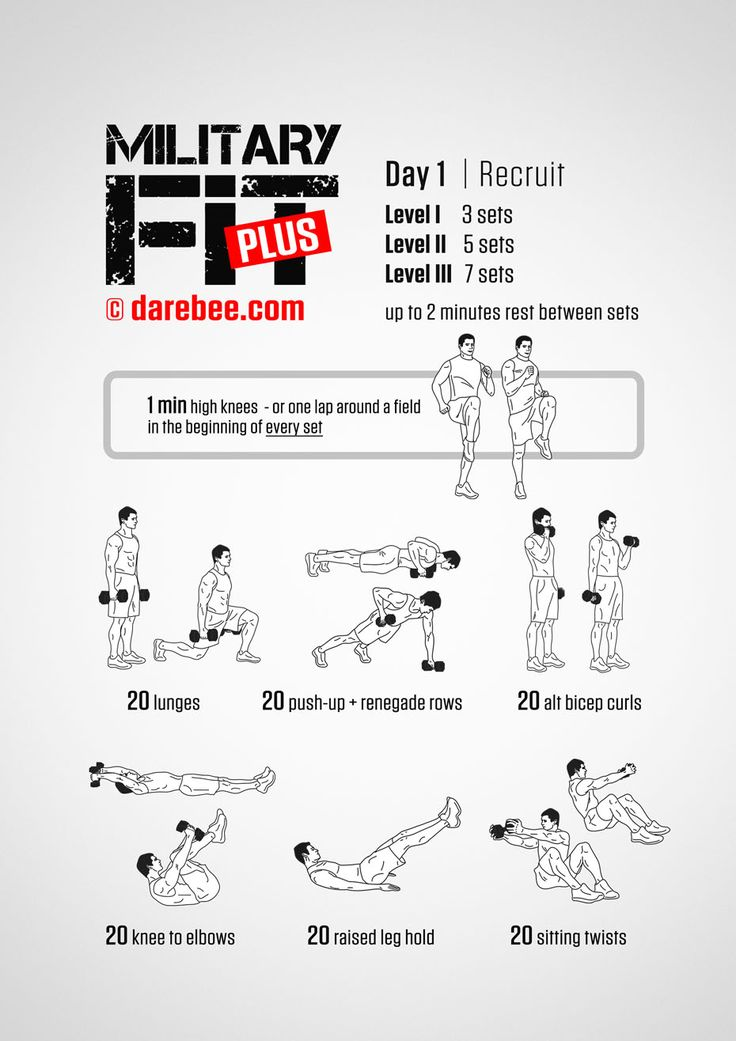 Military Fit Plus: 30-Day Fitness Program | Workouts ...