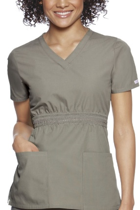 Cherokee V Neck Scrubs Top, LOVE THIS Fit And Color Rock Ridge, Stylish