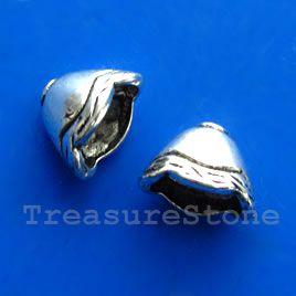 #Cone, antiqued silver-finished, 8x12x9mm. #TreasureStone Beads Edmonton.