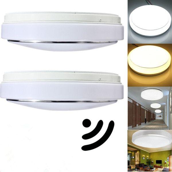 15w Pir Motion Sensor 30 Led Ceiling Light Body Automatic Light Switch Ac 220v Led Ceiling Lights Ceiling Lights Led Ceiling