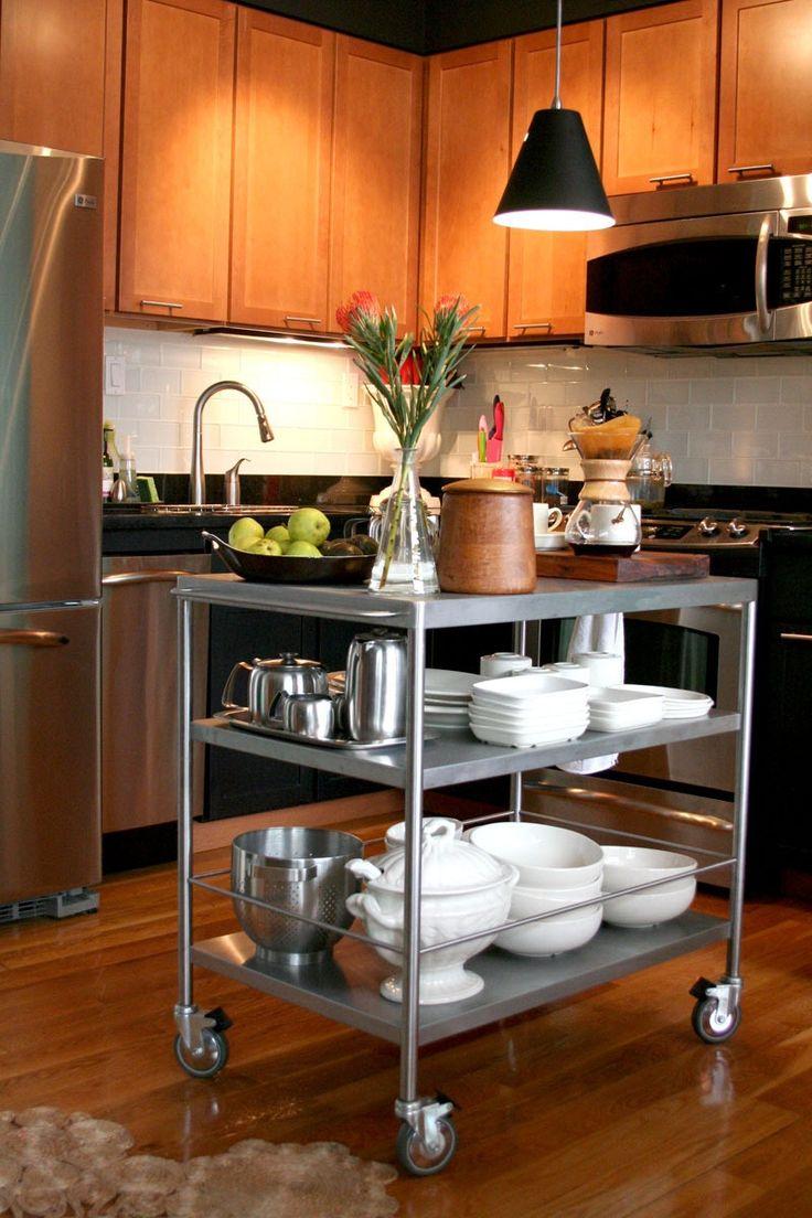 die besten 25 edelstahl k cheninsel ideen auf pinterest. Black Bedroom Furniture Sets. Home Design Ideas