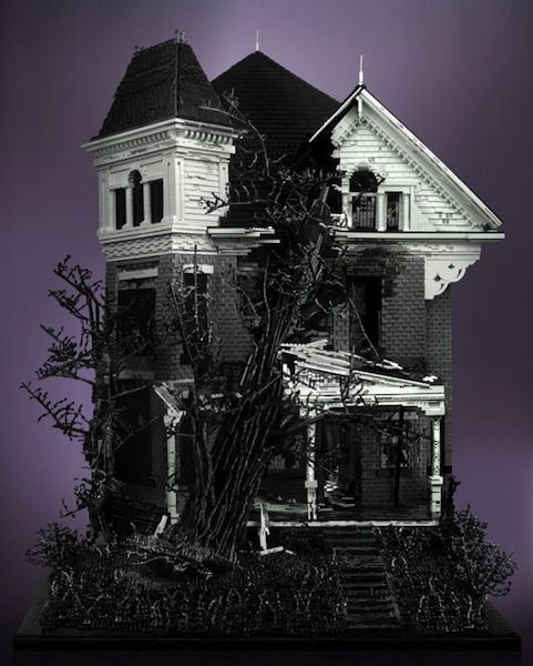 More Haunted Lego houses!: Tree, Haunted Houses, Legos, Story Victorian, Victorian Houses