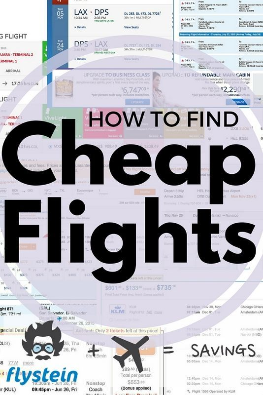 The team of travel experts at Flystein are ninjas at hacking flight prices. They'll find you flights at a cheaper price than what you have already found. Click through for more info.