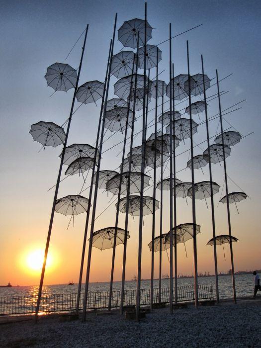 The Umbrellas Art Composition