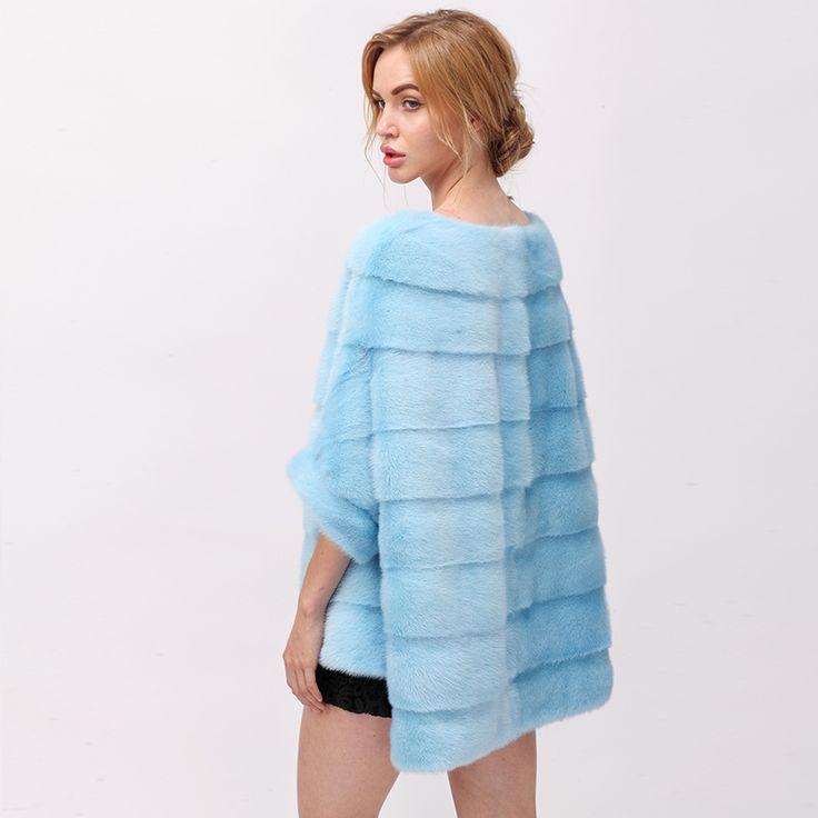 CNEGOVIK  Short mink coat batwing coat mink pullover women real fur mink. Yesterday's price: US $1260.00 (1039.50 EUR). Today's price: US $617.40 (508.00 EUR). Discount: 51%.