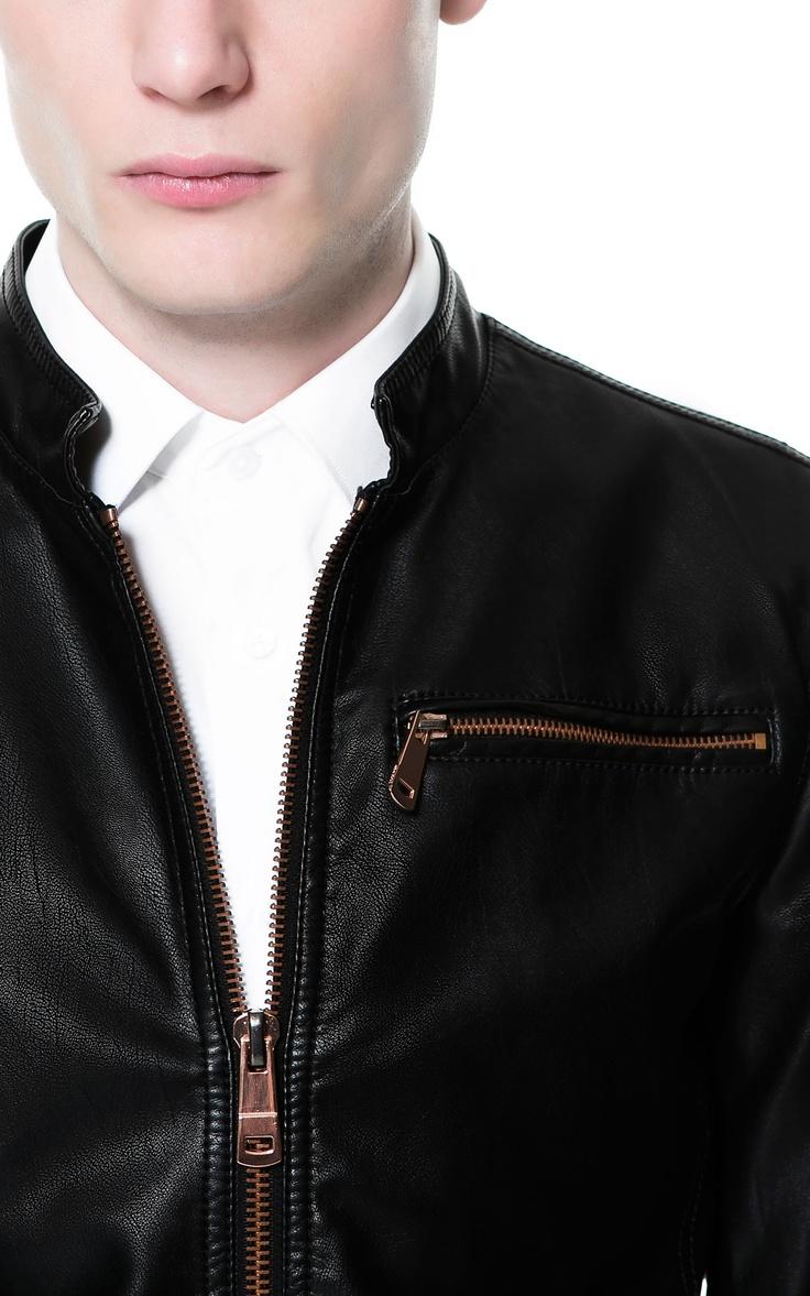 Faux Leather Jacket Zara Man.