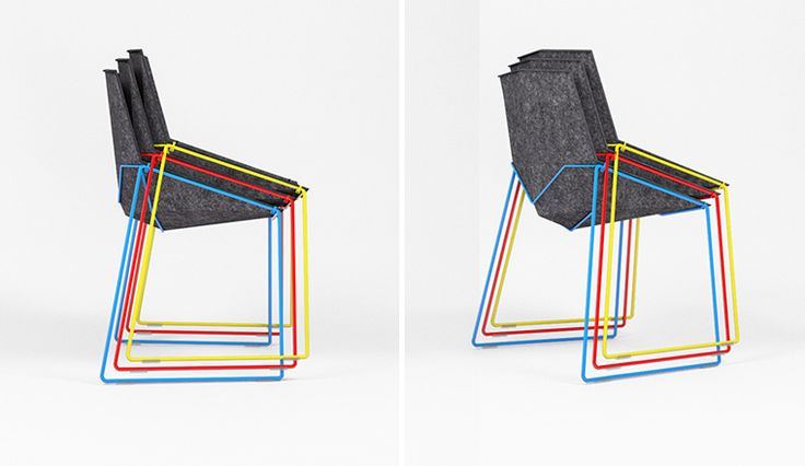 Recycled felt chair: Nico Less by Doanr