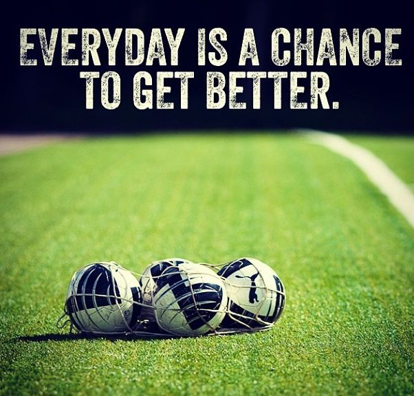 Inspirational Soccer Quotes And Sayings: Everyday Is A Chance To Get Better