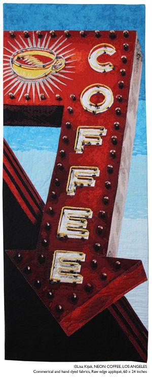 Lisa Kijak Textile Artist: Neon Coffee, Los Angeles                                                                                                                                                      More