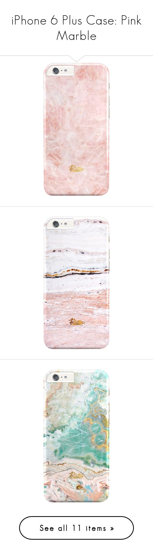 iPhone 6 Plus Case: Pink Marble by palettoshop on Polyvore featuring giftguide, iphonecase, holidays, marble, iphone6plus, women's fashion, accessories, tech accessories, phones and fillers