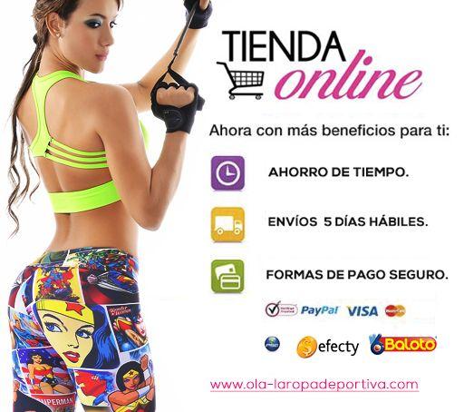 En nuestra tienda Online contamos con TODOS los medios de pago en Colombia para que realices de forma rápida y segura tus compras !!! Contáctenos por whatsapp al +57 3188278826. Compras, pagina web: www.ola-laropadeportiva.com #Online #Ecommerce #Comercioelectrónico #Ropadeportiva #VISA #MasterCard #PSE #Baloto #Efecty #Colombia #GYM