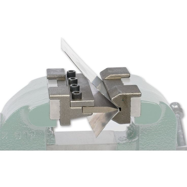 Exceptionally useful sheet metal benders which fit to the jaws of a vice with magnets. The die is in three parts allowing a range of complex bends to be formed. Available in two sizes, 100mm or 150mm.