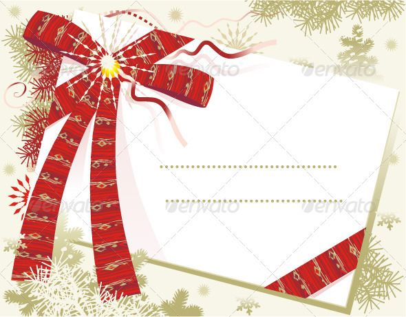 Christmas Card Background  #GraphicRiver         Christmas or New Year background with blank letter or gift card and red bow.  	 Download zip contains additional 4500×3500 300 dpi high res jpeg raster file.     Created: 5September11 GraphicsFilesIncluded: JPGImage #VectorEPS Layered: No MinimumAdobeCSVersion: CS Tags: background #backgrounds #blank #bow #branches #card #cards #christmas #copyspace #graphic #greeting #greetingcard #holiday #illustration #illustrations #new #newyear #pine…