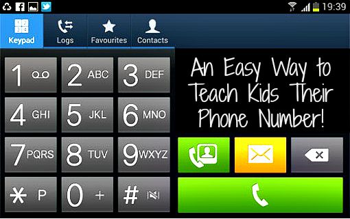 An Easy Way to Teach Kids Their Phone Number