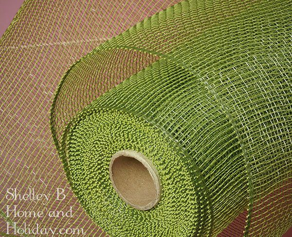Deco mesh moss green 21 inches tall. Shop for wreath and craft supplies in our home and holiday decoration store.