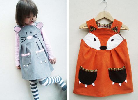cute twist on a costume for kids. no fussing with (and taking off) the mask. #fox #mouse #halloween