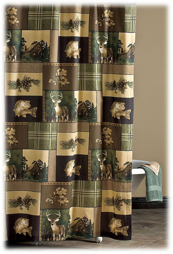 Country bathroom shower curtains - Bass Pro Shops Bass Country Shower Curtain