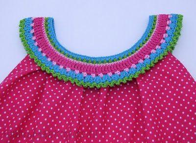 A beautiful crocheted collar for a simple sun dress...