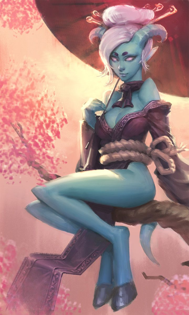 draenei girl, TJ Yeh on ArtStation at https://www.artstation.com/artwork/No3NJ