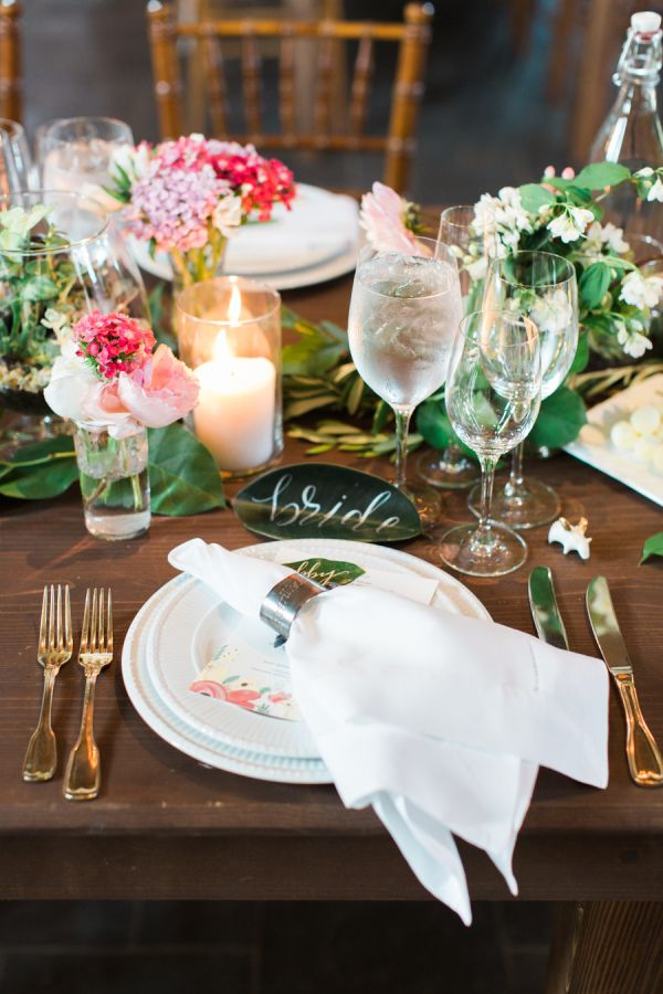 Rustic with a garden twist: http://www.stylemepretty.com/virginia-weddings/madison-virginia/2015/08/13/rustic-elegant-spring-wedding-at-early-mountain-vineyards/ | Photography: Abby Grace - http://abbygracephotography.com/