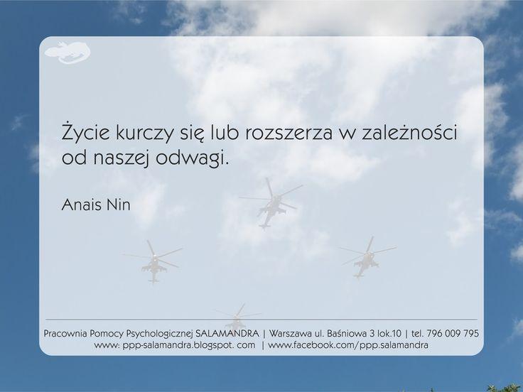 Anais Nin o odwadze i życiu