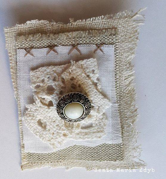 Fabric Vintage Brooch made by Beata Maria Zdyb