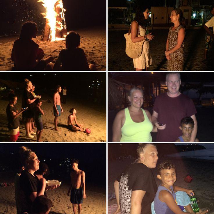 Eldfest på Mero beach, Dominica.