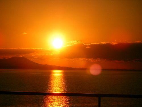 冬の夕日:山陰 松江 温泉 宍道湖 松江しんじ湖温泉旅館┃なにわ一水のだんだんブログ