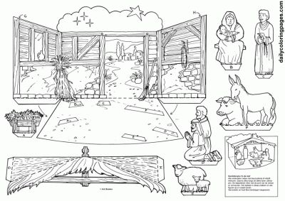 17 Best Images About 3d Nativity On Pinterest Navidad Nativity Coloring Pages For Adults