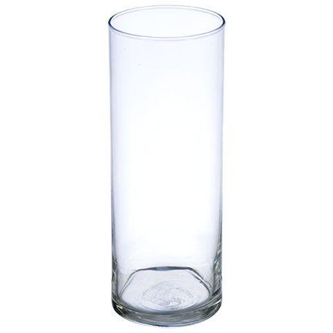 Glass Cylinder Vases, 9-in.