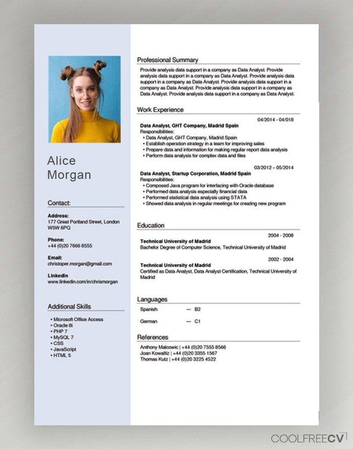 Free Cv Creator Maker Resume Online Builder Pdf Cv Template Free Best Free Resume Templates Cv Design Template