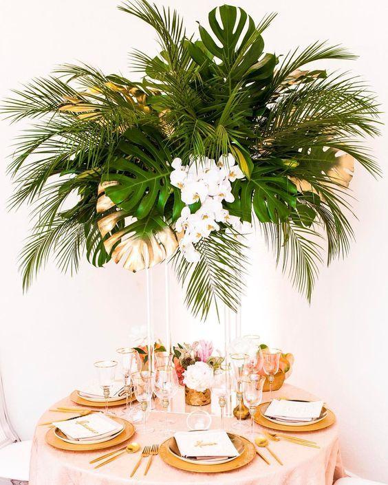 #exoticwedding #weddingdecor #monstera #palmier #orchid