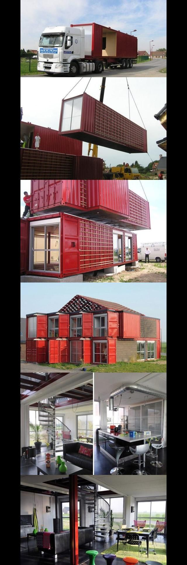 At what point...just build.  house made from recycled shipping containers