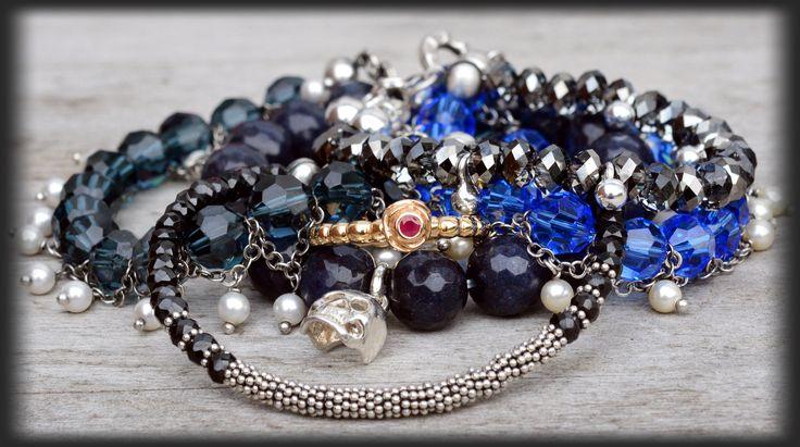 Swarovski, spinels, silver gemstone jewelery plus Pandora gold ruby ring