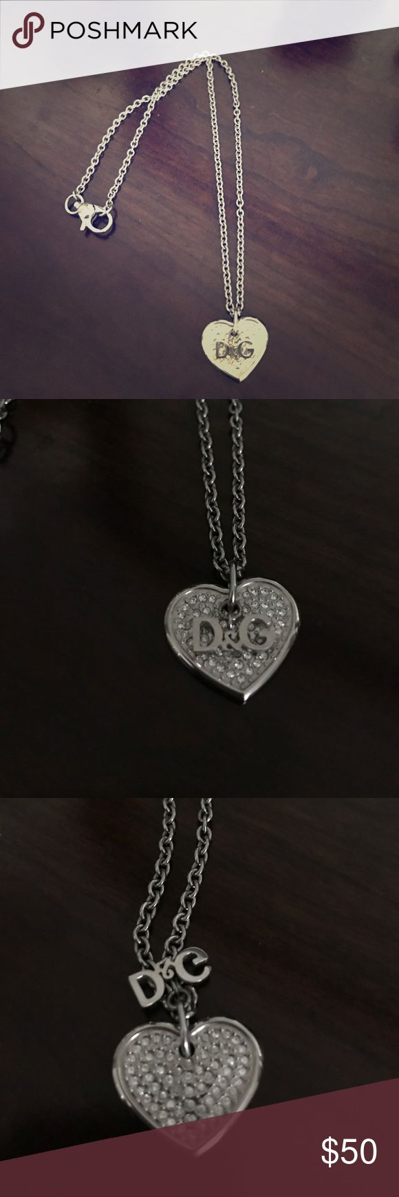 D&G pave style heart necklace Like Brand New - Never worn Jewelry Necklaces