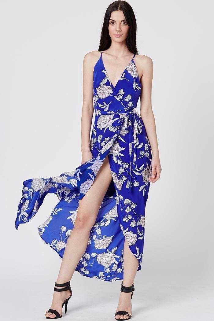 f2751185459 YUMI KIM Rush Hour Silk Maxi - Royal-Blue-Carnation.  yumikim  cloth  all