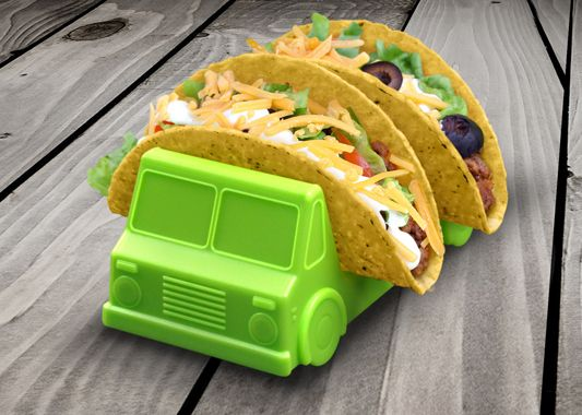 Special delivery of fun and funky kitchen accessories! Drive Fred's Taco Truck up to your messiest eater and marvel at how it serves the goods. Molded from food-safe polypropylene plastic, this truck is a playful addition to your table.
