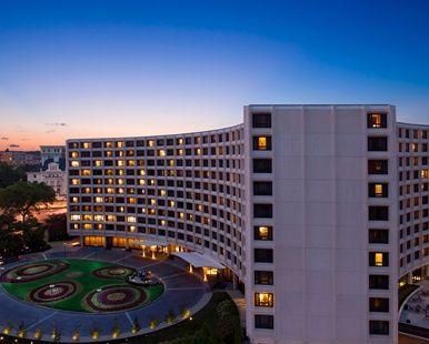 Hilton Washington, DC Hotel - Hotel Exterior at Dusk | DC 20009