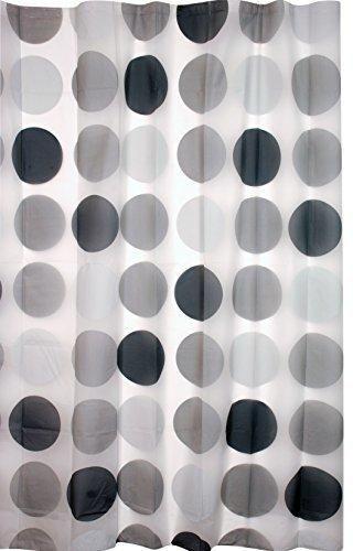 Kiera Grace Printed Peva Shower Curtain 70-Inch by 72-Inch Mod Circle