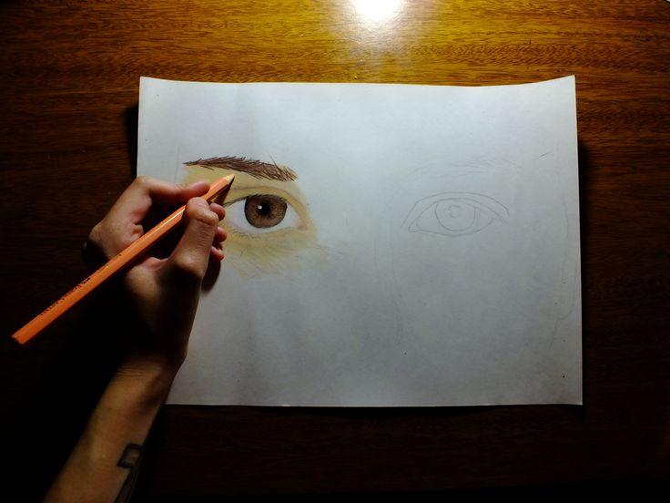 Una mirada vale mas que mil palabras, o eso dice.   #Mirada #Dibujo #Arte #Lapiz