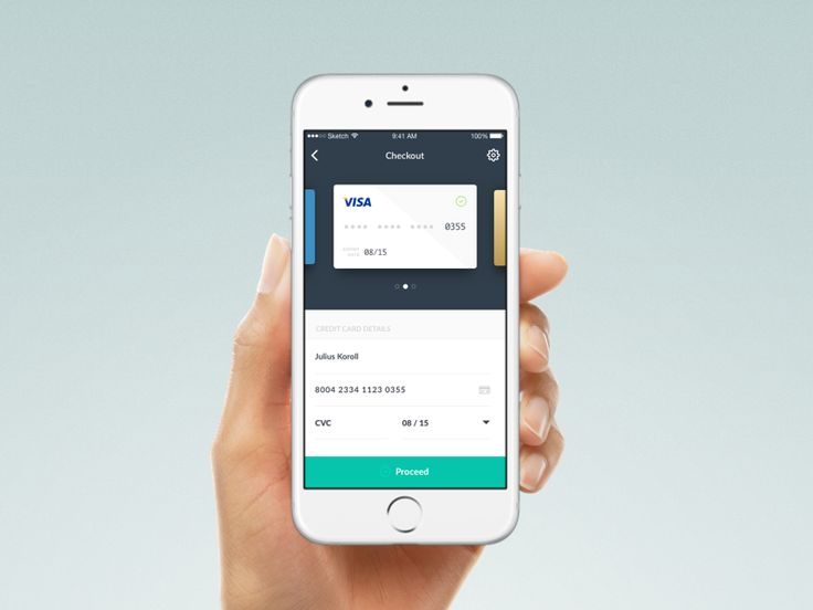 Dribbble - Day 2: Credit Card Checkout by Julius Koroll