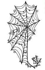 Spider Web Paisley, would be great for Halloween Henna