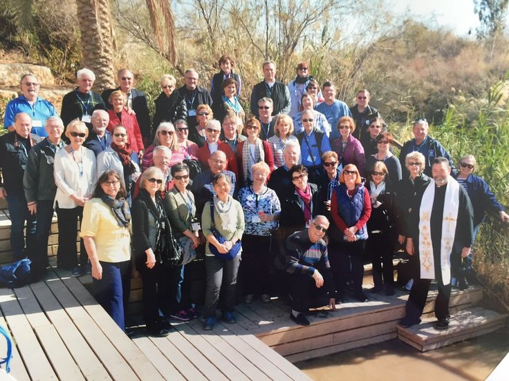 TRAVEL: During early February, we journeyed to the Holy Land with this good-looking group from Omaha's St. Wenceslaus Church, led by Father Tom Bauwens. The group is pictured above near the Jordan River. After landing at Ben Gurion Airport near Tel Aviv, we headed north to Netanya for the evening. The next day we traveled further north to Caesarea National Park, the Stella Maris Carmelite Monastery in Haifa, Megiddo National Park, Nazareth and Tiberias.