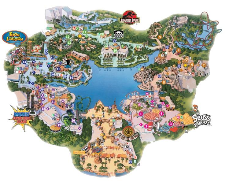 Islands Of Adventure Loved The Summer Job Islands Of Adventure Theme Park Map Universal Studios Singapore