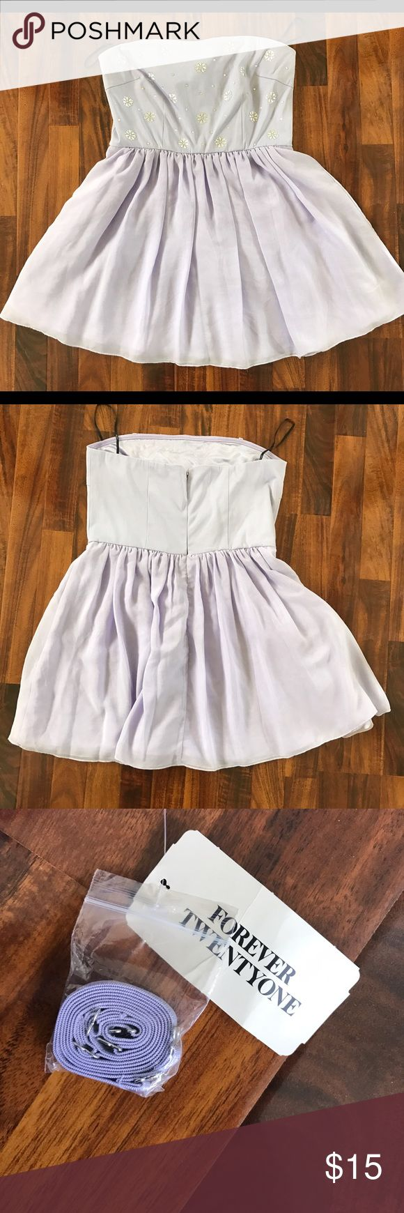 Forever 21 light purple dress This dress can be worn with and without straps. It is in new condition with tags. It is the perfect dress to wear to a party or a date. Forever 21 Dresses Mini