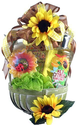 Gift Basket Village Citrus Sunflower SPA Basket for Her