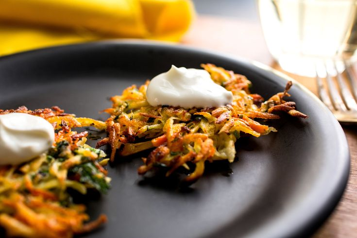 NYT Cooking: Indian flavors add a new dimension to potato latkes. <br/>I love the Indian flavors in these irresistible latkes. The heat comes from the chiles, the spice from the nigella seeds.